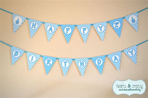 printable happy birthday banner blue first birthday boy blue cupcake happy birthday banner