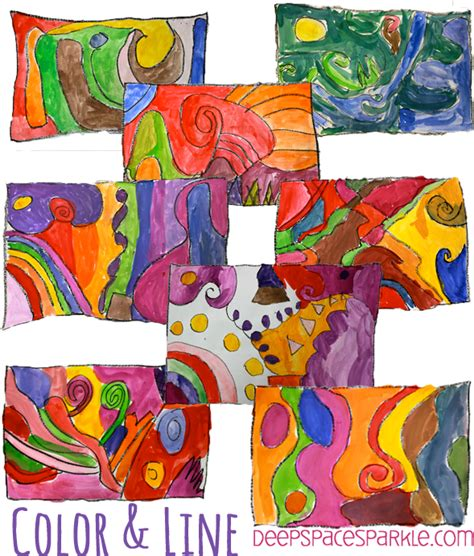 pattern art lesson grade 1 easy color line art lesson deep space sparkle