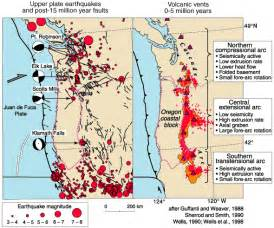 oregon fault lines map pacific northwest geologic mapping and hazards