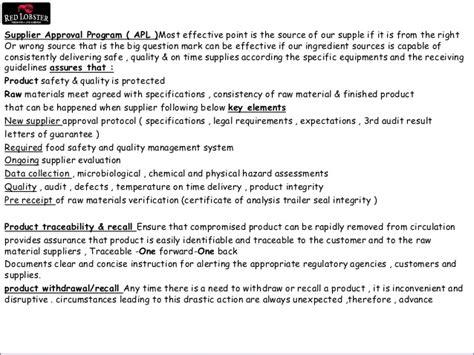 Haccp Commitment Letter haccp letter of guarantee template supplier valmuvi