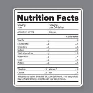 blank nutrition facts label template nutritional facts blank images