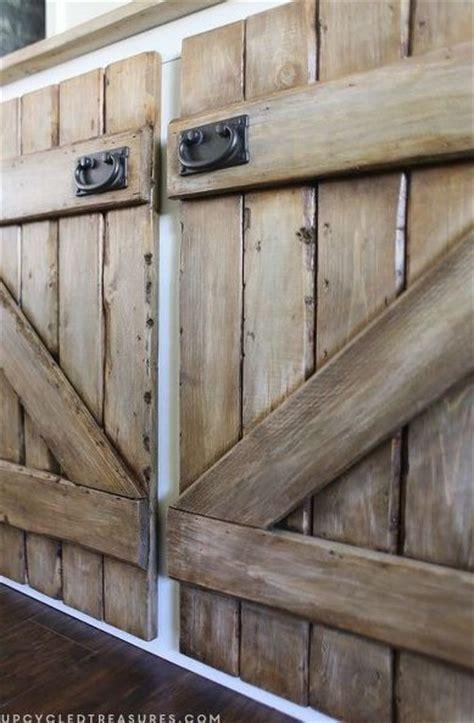 upcycled barnwood style cabinet, diy, kitchen cabinets