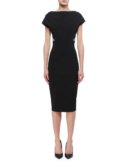 Beckham Dress beckham contrast trim sheath dress neiman