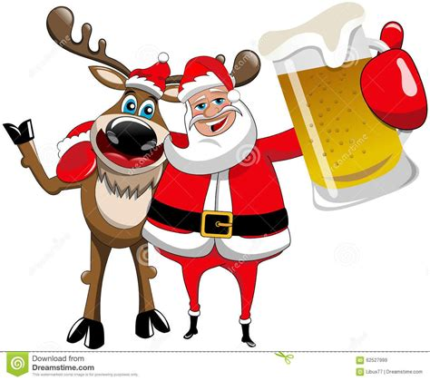 Mug Natal Santa Claus reindeer santa claus hug mug stock vector