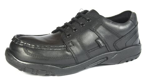pod grant boys black lace up school shoes