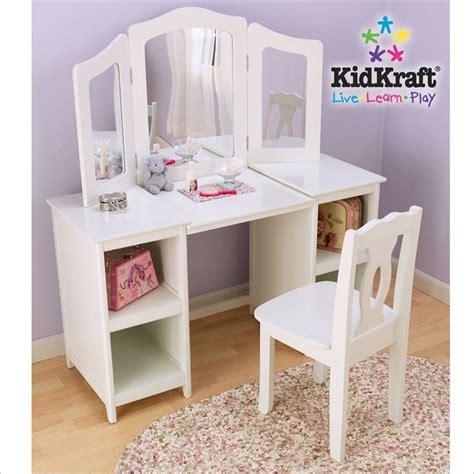 kidkraft deluxe vanity table with chair kidkraft deluxe wood makeup vanity table with chair and