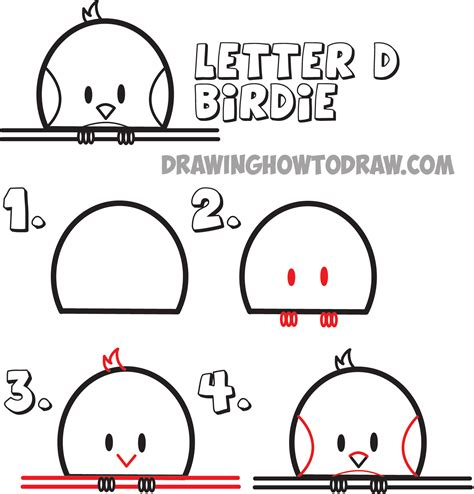 Letter Drawing guide to drawing animals from the uppercase
