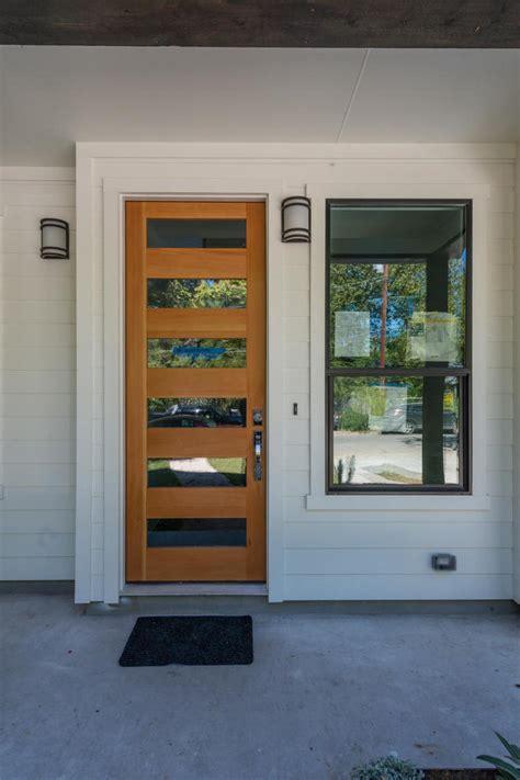 sleek modern front door hgtv