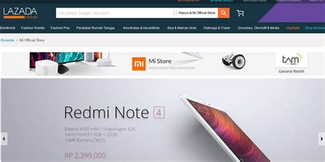 Hp Xiaomi Erafone mau beli hp xiaomi 4g resmi indonesia kini bisa di lazada gadgetren