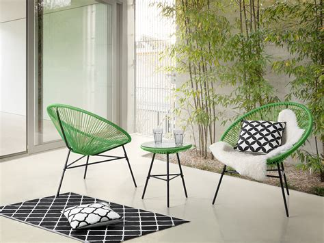 Garden Bistro Table And 2 Chairs Garden Bistro Set Table And 2 Chairs Mexican Chair Weave Pattern Green Ebay