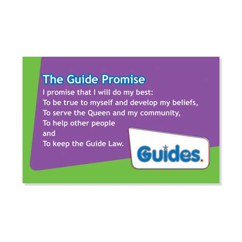guide promise and law card single adult resources