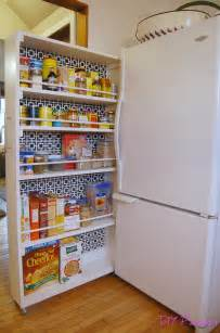 Wall Pantry Organizer Diy Rolling Pantry Tutorial Diy Home Improvement