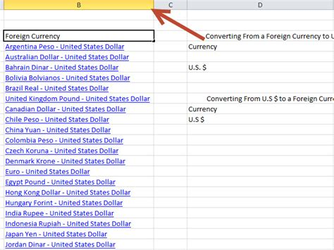 currency converter xls how to create a currency converter with microsoft excel