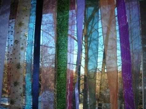 how to make ribbon curtains ribbon curtain hippie gypsy style pinterest