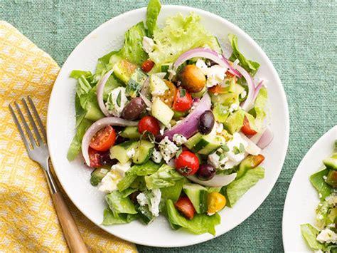 greek salads hearty diner dinner salads food network food network