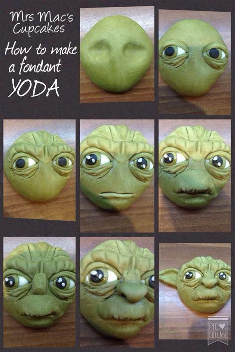 Hochzeitstorte 3 Stöckig Anleitung by How To Make A Fondant Yoda From Wars Tutorial Food