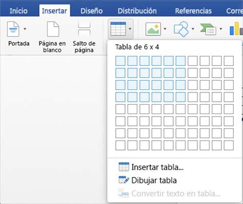 tablas en word 2016 insertar una tabla en word para mac word for mac
