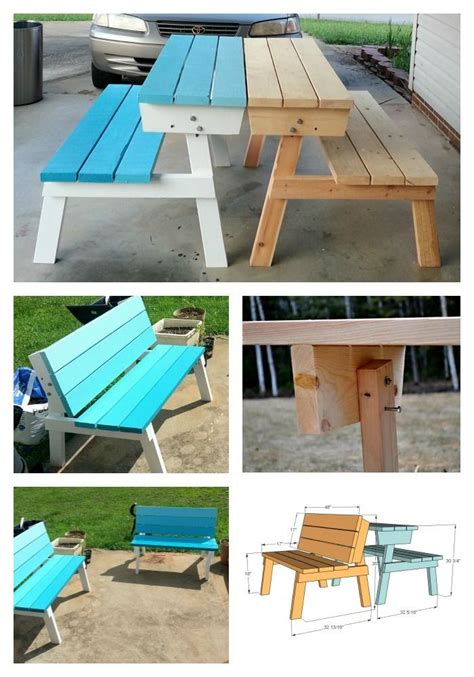 convert a bench folding picnic table 25 best ideas about convertible furniture on pinterest compact dining table furniture for