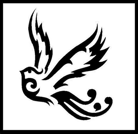 tribal bird tattoo simple tribal bird designs