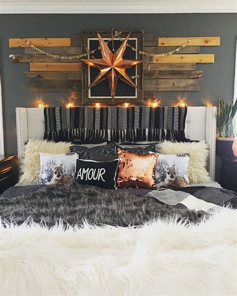 rustic glam love home decor design pinterest rustic boho glam master bedroom by blissfully eclectic