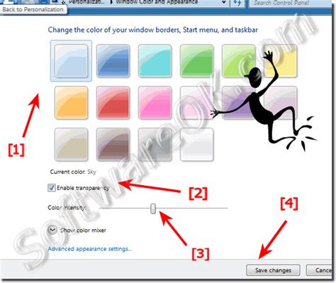how to change border color how to change windows border color in windows 7