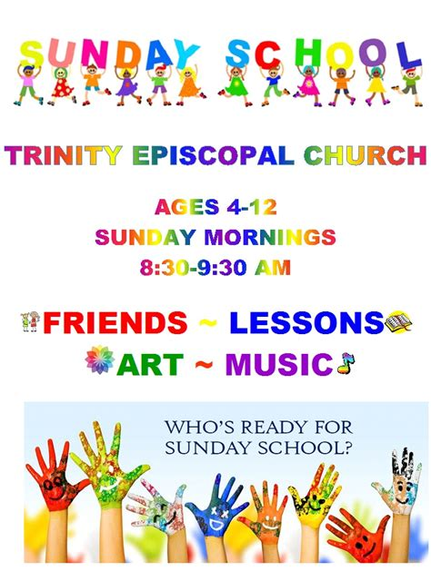 Home Trinity Episcopal Church Sunday School Flyer Template