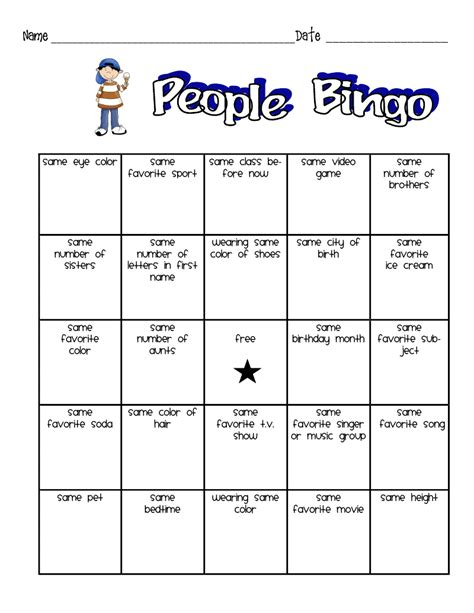 people bingo for kids wishing well pinterest people