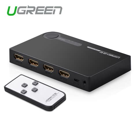 Hdmi 3 Port Switcher Murah Berkualitas ugreen 3 port hdmi switch switcher hdmi splitter hdmi port for xbox 360 ps3 ps4 smart android hd