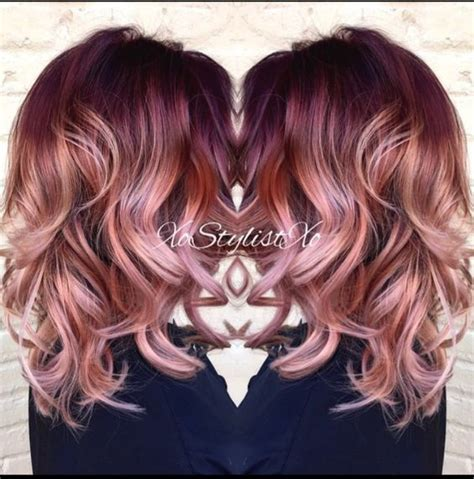 medium length hairstyles for straight hair rose gold layered bob 20 fabulous summer hair color ideas amazing hair colours