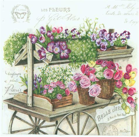 Decoupage Shop - decoupage paper napkins of flower wagon chiarotino