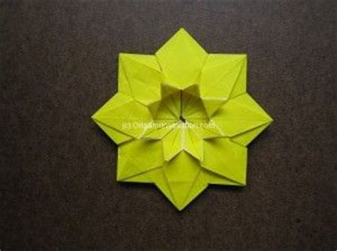 Origami Sunflower Step By Step - origami modular sunflower step by step