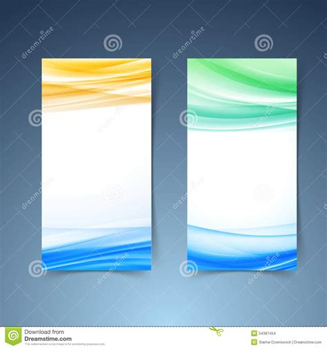 layout design vertical smooth modern abstract vertical card collection stock