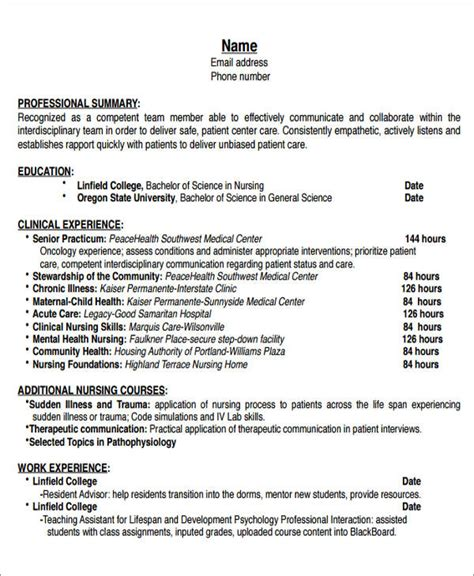 Rn Resume Sles Templates 7 sle new resumes exles in word pdf