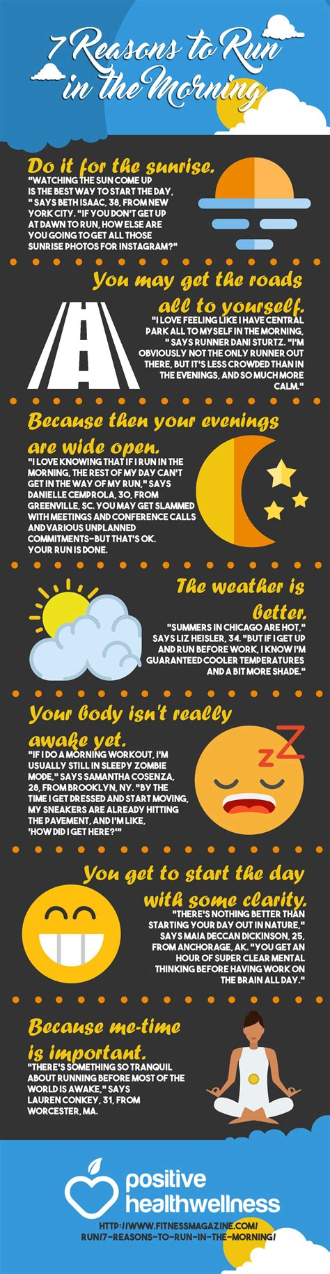 7 Reasons To by 7 Reasons To Run In The Morning Infographic