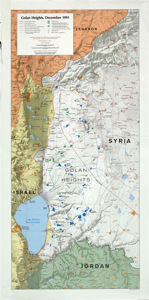 middle east map golan heights golan heights map my