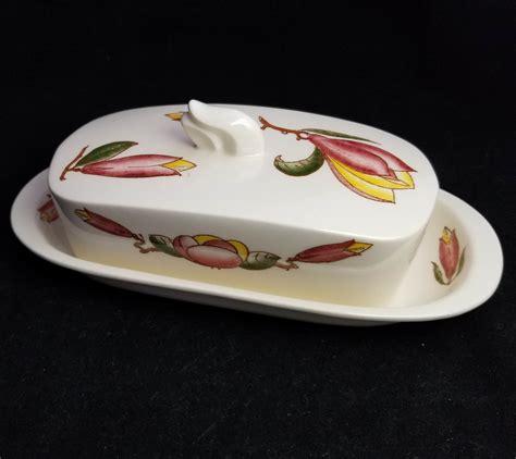 lotus butter vernonware lotus butter dish lid