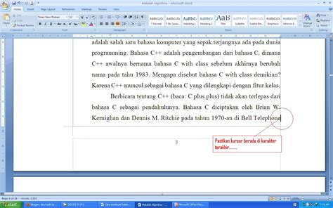 format page layout makalah membuat halaman makalah aku kasih tahu