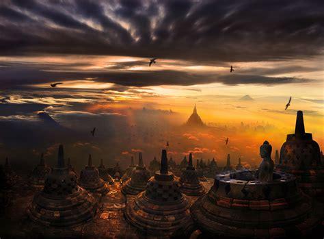 wallpaper yogyakarta borobudur temple in indonesia thousand wonders