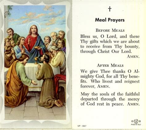 Wedding Blessing Of The Meal by Meal Prayers Catholic Prayers God