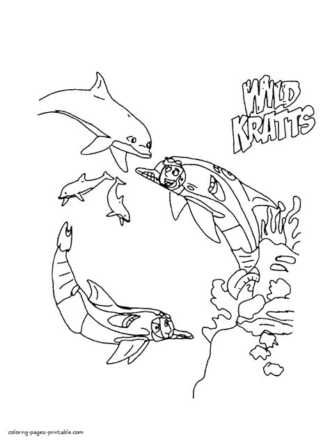 printable coloring pages wild kratts wild kratts dolphins coloring pages