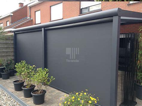 terrassenüberdachung glas mit markise preise au 223 enrollo oder senkrechtmarkise f 252 r terrassen 252 berdachungen