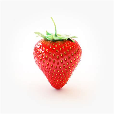3d 3 Strawberry 3d strawberry berry