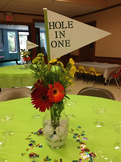golf theme table centerpiece easy diy