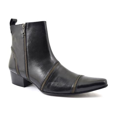 Zip Boots buy black cuban heel zip up beatle boots gucinari