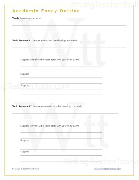 Academic Essay Template by Academic Essay Outline Writing Tools