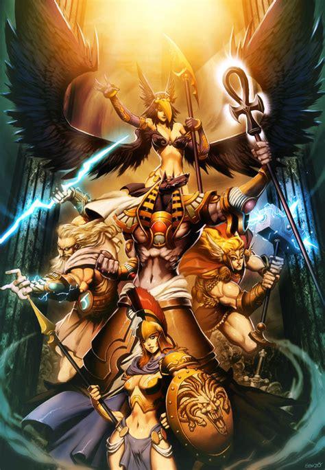 imagenes zeus anime gods myth pantheons by genzoman on deviantart