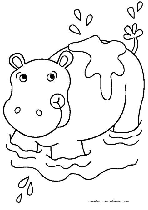 imagenes para colorear hipopotamo dibujos para colorear hipop 243 tamo