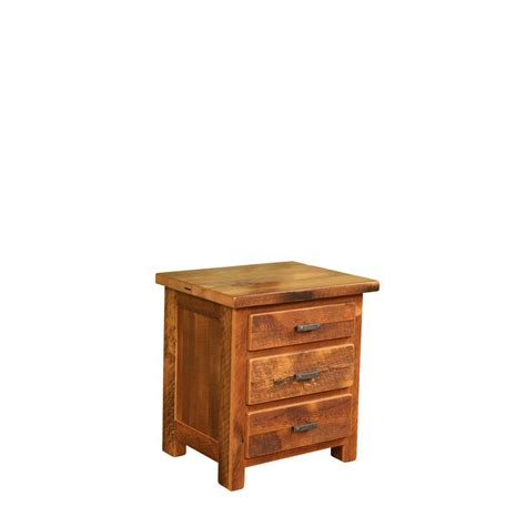 Nadine Collection Nightstand Amish Crafted - barnwood farmhouse three drawer nightstand amish crafted