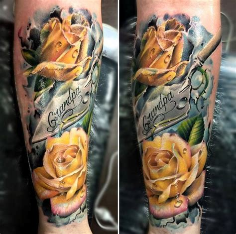 the yellow rose tattoo club 40 eye catching tattoos tattoos yellow roses