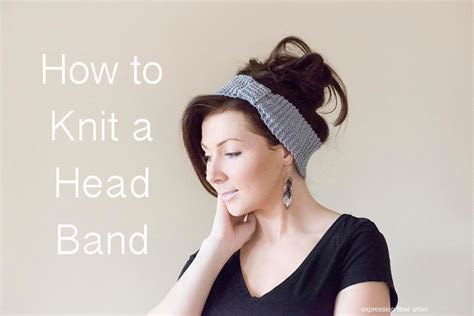 how to knit hair band how to knit a headband beginner level